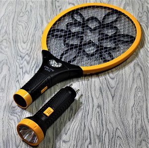 Viola Mosquito Racket/Mosquito Killer Bat with Detachable Torch