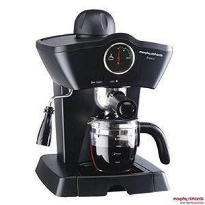 morphy richards fresco 800 watt 4 cups espresso coffee maker