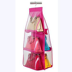 okayji 6 pocket large clear handbag storage solution