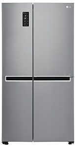 LG 687 L Frost Free Side by Side Refrigerator GC B247SLUV platinum silver