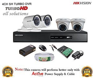 HIKVISION DS-7204HGHI-E1 Turbo HD 4CH DVR + HIKVISION TURBO DOME BULLET CAMERA 4Pcs