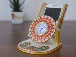 marble-mobile-stand-card-holder