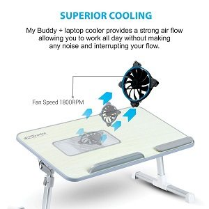 Portronics POR-704 Adjustable laptop cooling table
