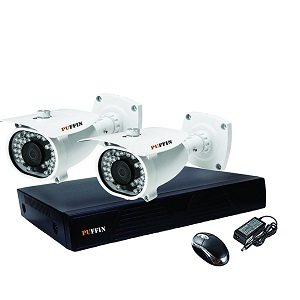 Puffin HD CCTV Security Camera with Night Vision Waterproof 2 Bullet Camera