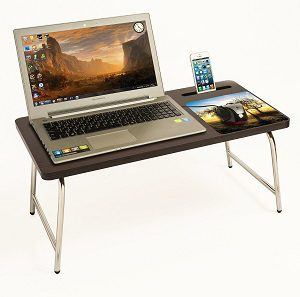 Riona Bluewud Bed Laptop Table with inbuilt Mobile Stand & Mousepad