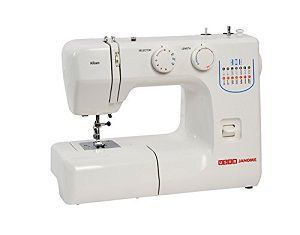 Usha Janome Allure 75-Watt Sewing Machine (White-Blue)