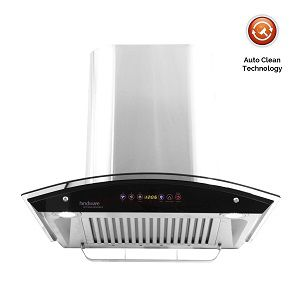 Hindware Cleo 60 Chimney (60 cm, 1200 m3-h, Silver)
