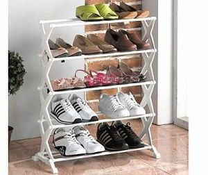 Inditradition Shoe Rack (5 Racks) Fancy Durable With Aluminium Rod & Plastic Base Best Home Multiutility Product