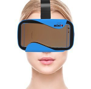 MINIVR ( BLUE )- with BIGGER 42MM HD OPTICAL RESIN LENSES for better FOV - LIGHTWEIGHT - SUPER BUILD QUALITY with ABS PLASTIC