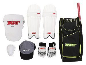 MRF Club Kashmir Willow Cricket Kit, Junior