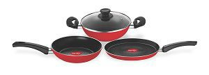 Pigeon Carlo Induction Base Aluminium Cookware Gift Set, 3-Pieces