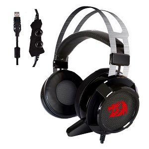 Redragon H301 SIREN2 7.1 Channel Surround Stereo Gaming Headset Over Ear Headphones with Mic