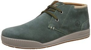 Woodland Men's Leather Sneakers green