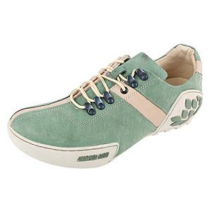 Woodland Men's Nubuck Print Leather Sneakers