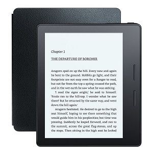 All-New Kindle Oasis with Leather Charging Cover, 6 High-Resolution Display, Wi-Fi