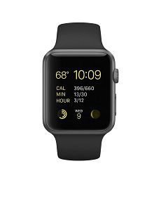 Apple Series 1 Watch Sport 42mm Space Grey Aluminum Case with Black Sport Band