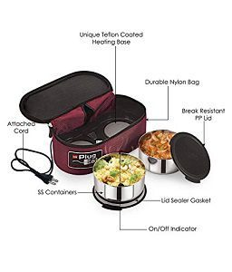 Cello Proton Electric Staiinless Steel Lunch Box