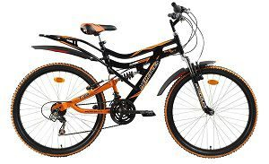 Hercules Topgear CX70 Dual Suspension 18 Speed Bicycle
