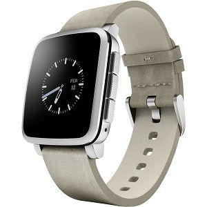 Pebble Technology Corp Time Steel 511-00023 Smartwatch (Silver)