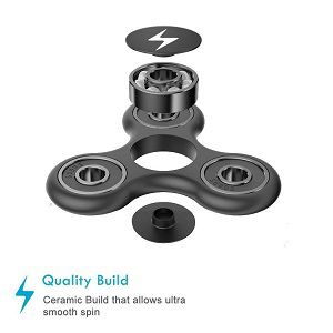 BLAZE BLACK Fidget Hand Spinner Ultra Fast Ceramic Bearings Finger Toy best fidget spinner amazon