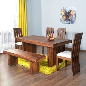 @home by Nilkamal Delmonte Six Seater Dining Table Set