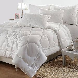 Bianca Plain Double Quilts & Comforters White Premium
