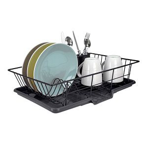 Home Basics 3 Piece Dish Drainer Set