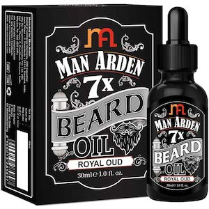 Man Arden 7X Beard Oil (Royal Oud), 7 Premium Oils For Beard Growth & Nourishment