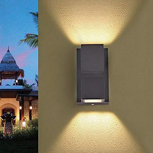 Citra 6W LED Outdoor Exterior Wall Step UP/Down Light Fixture Lamp Grey Finish Warm White