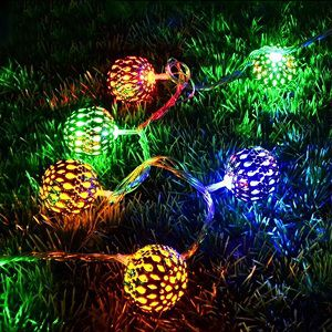 Citra LED Multi Colour decoration lights - Metal Balls silver