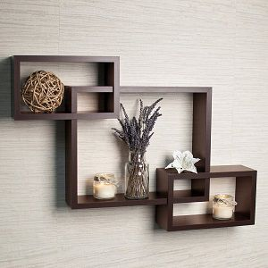 Driftingwood Wall Shelf Rack Set of 3 Intersecting Wall Shelves