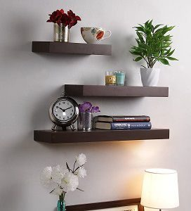 GrayWood Floating Wall Shelf in Brown