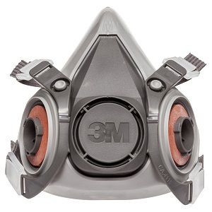 3M 3M-6200 Half Facepiece Reusable Respirator, Medium, Without Cartridges
