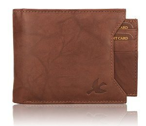 Hornbull Men's Washed Brown Rigohill Leather best Wallet