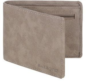 buy MarkQues Invader Beige Leather Mens Wallet