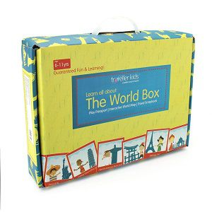 World Box for Kids. Learn Geography with maps, passport, scrapbook