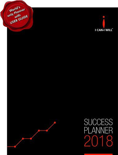 I Can-I Will Success Planner Diary Organizer Weekly Monthly Yearly 2018 Hardbound