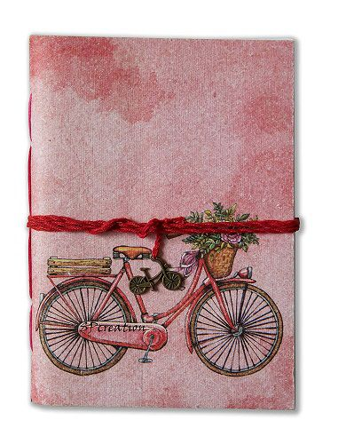 SPCreation Vintage Bicycle Handmade Handicraft Diary