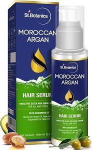 StBotanica Moroccan Argan Hair Serum - Nourishing, Conditioning, and Frizz Control Serum