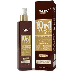 WOW 10-in-1 Active Miracle Hair Oil - No Parabens and Mineral Oils