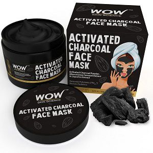 WOW Activated Charcoal Face Mask with PM 2.5 Anti Pollution Shield