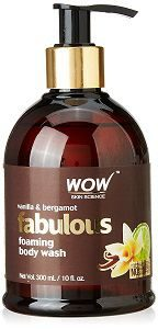 WOW Fabulous Foaming Body Wash - No Parabens & No Sulphates - Vanilla & Bergamot Shower Gel