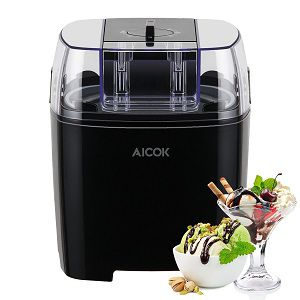 Aicok 1.5 Quart Ice Cream Maker Machine Frozen Yogurt and Sorbet Maker with Timer Function