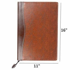 AmazingHind Leatherette Material Professional File Folders For Certificates Documents Holder With 20 Leafs