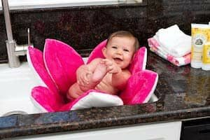 House of Quirk Non Slip Blooming Lotus Flower Sink Bath Mat for Babies