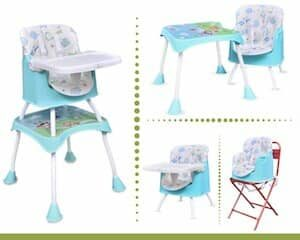 R for Rabbit Cherry Berry Grand - The Convertible 4 in1 High Chair for Baby/Kids