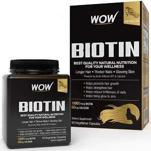 Wow Biotin Maximum Strength Veg Capsule 10000 mcg