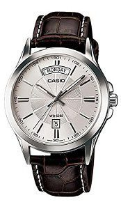 Casio Enticer Analog Silver Dial Mens Watch