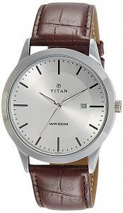 Titan Analog Silver Dial Mens Watch NK1584SL03